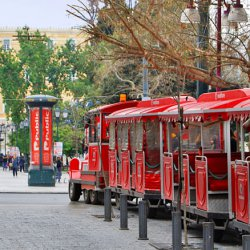 Athens Happy Train at Ermou Street