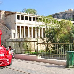 Happy Train at Stoa of Attalos and Acropolis