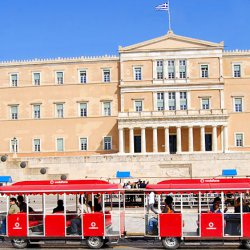 Happy Train at Hellenic Parliament
