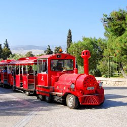 Happy Train uphill to Acropolis