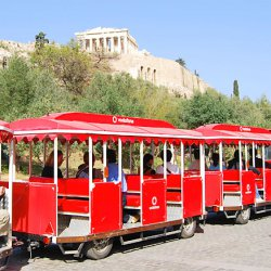 Athens Happy Train at the Parthenon