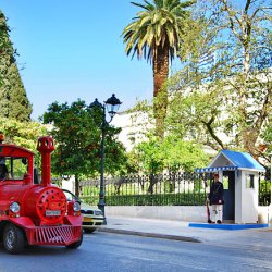 Happy Train at Herodes Atticus Street